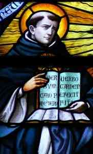 схоластику. Thomas Aquinas in Stained Glass.jpg